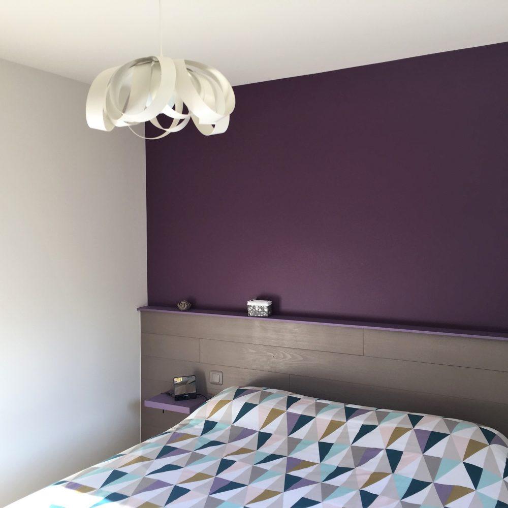 violet - peinture - chambre