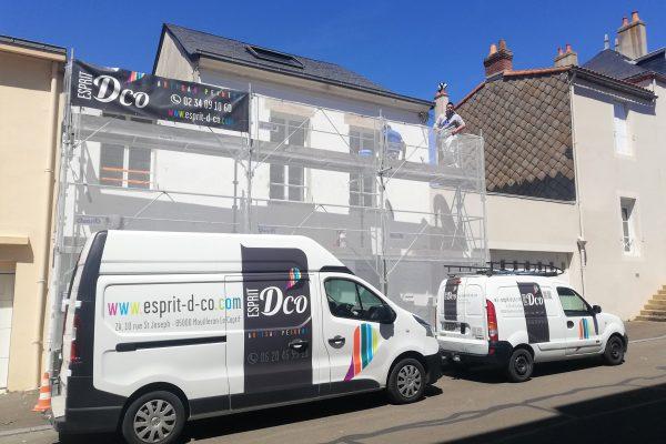 extérieur vendée ravalement façade peinture