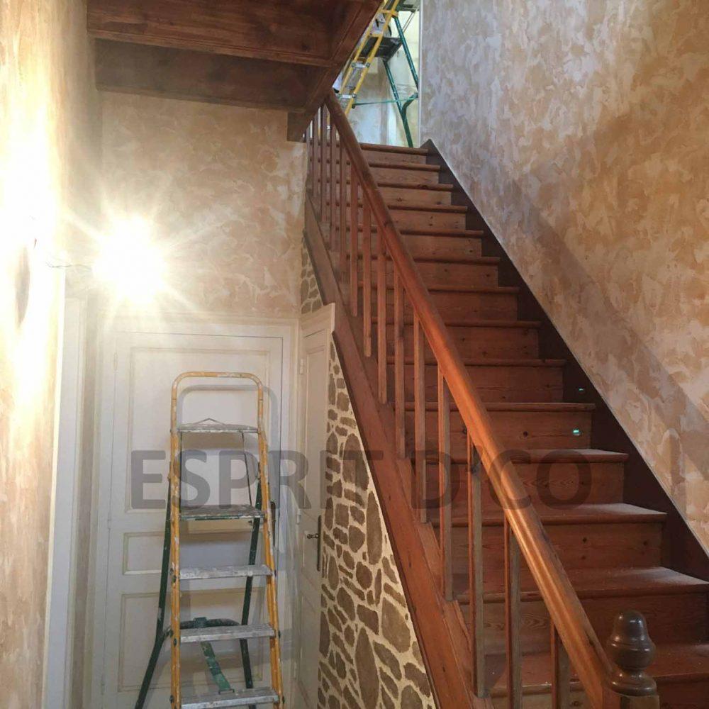 Rénovation escalier peinture artisanat vendée